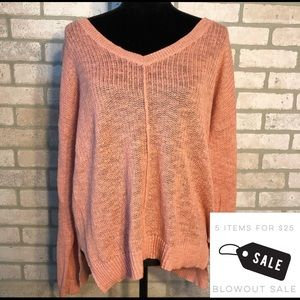 Pink Rose Middle Seam Sweater